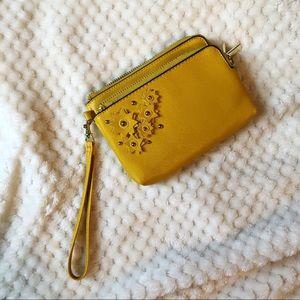 Mustard Yellow Wristlet